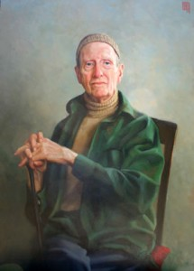Portrait of Norman Daly by artist Bill Benson