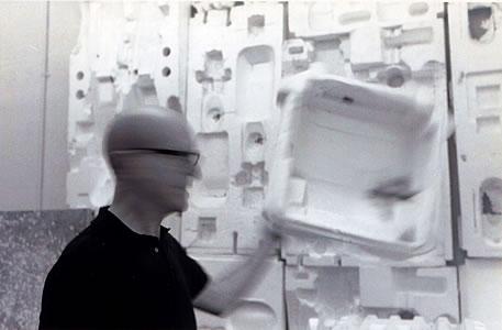 Norman Daly in his studio