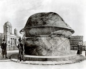 Civilization of Llhuros | Artifact #133 | PRINT OF PHALLIC MOMUMENT DESTROYED IN 1807 BY NAPOLEANIC TROOPS