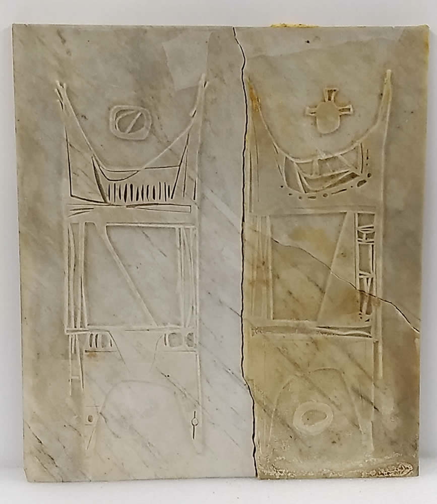 Civilization of Llhuros   Artifact #18   STELE WITH GODS TAL-HAX AND SHOR-NOO