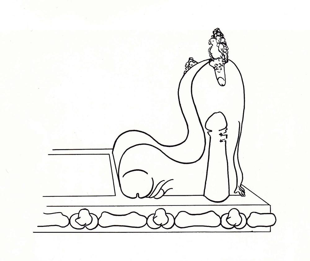 Civilization of Llhuros | Artifact #75 | DRAWING OF A FULCRUM (Headboard)