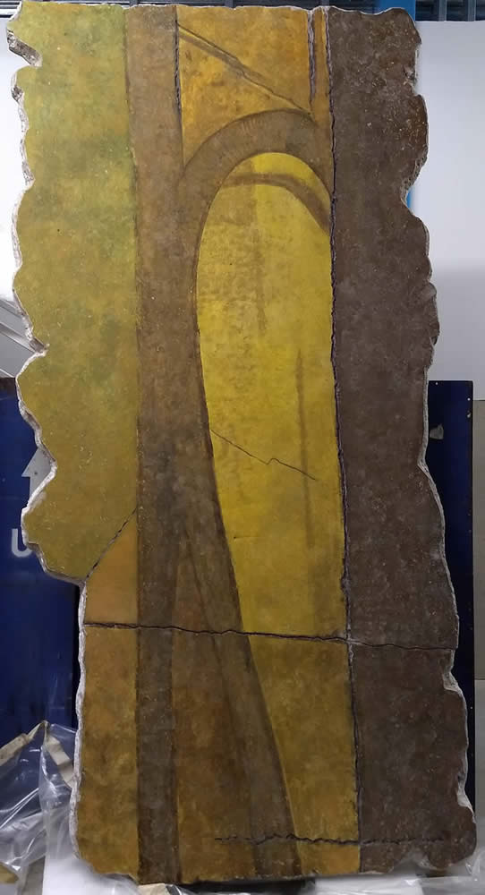 Civilization of Llhuros | Artifact #86 |  FRAGMENT OF WALL PAINTING FROM TEMPLE OF PHALLOS AT TROLYDOS