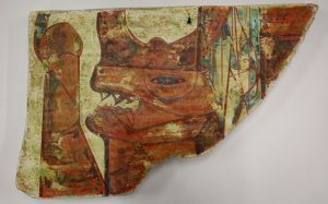 Civilization of Llhuros | Artifact #91 | FRAGMENT OF WALL PAINTING AT THE TEMPLE OF PHALLOS AT TROLYDOS