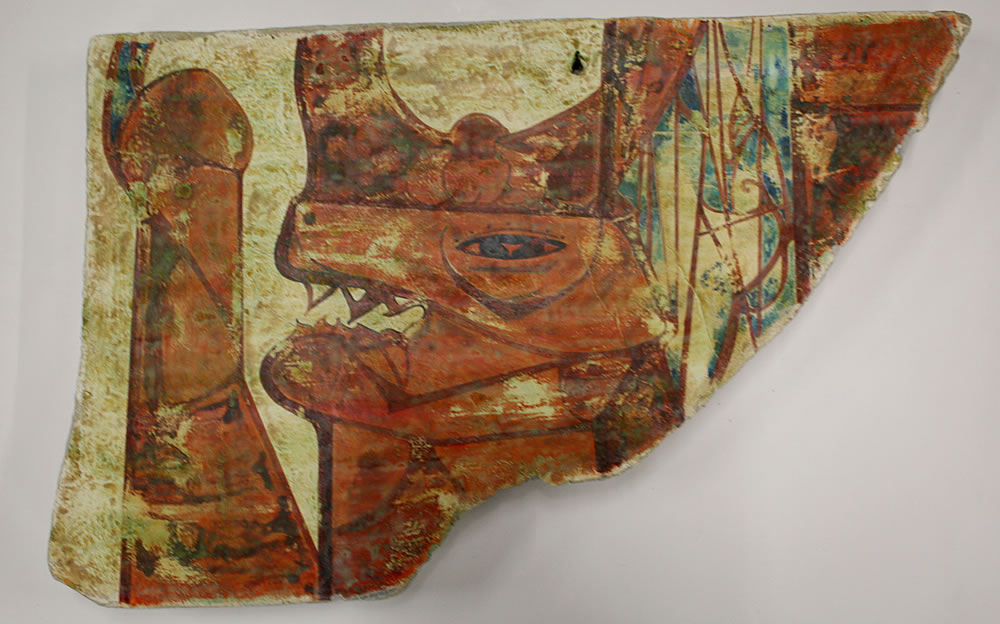 91-FRAGMENT OF A WALL PAINTING