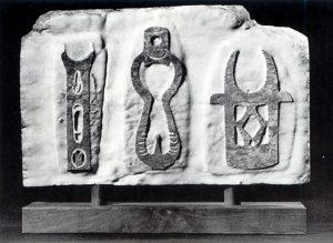 Civilization of Llhuros | Artifact #22  Stele with Stilt-Walker and Stilts