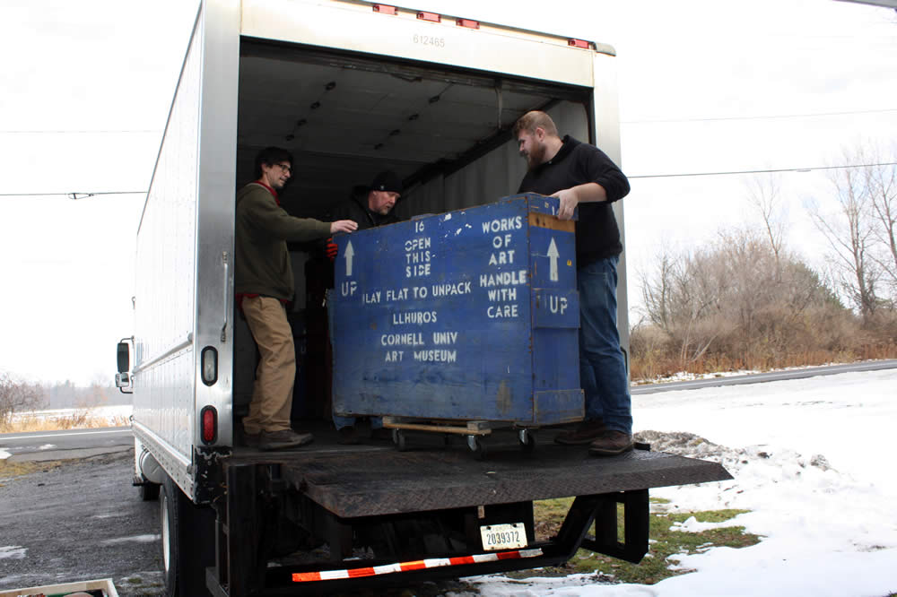 Crate of Llhurocian Artifacts is Loaded for trip to art storage facility