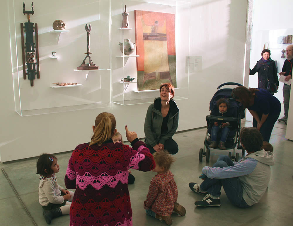 School Children of Montpellier, France Visit the Llhuros Exhibit at La Panacée - La Centre d' Art Contemporain, December 2017