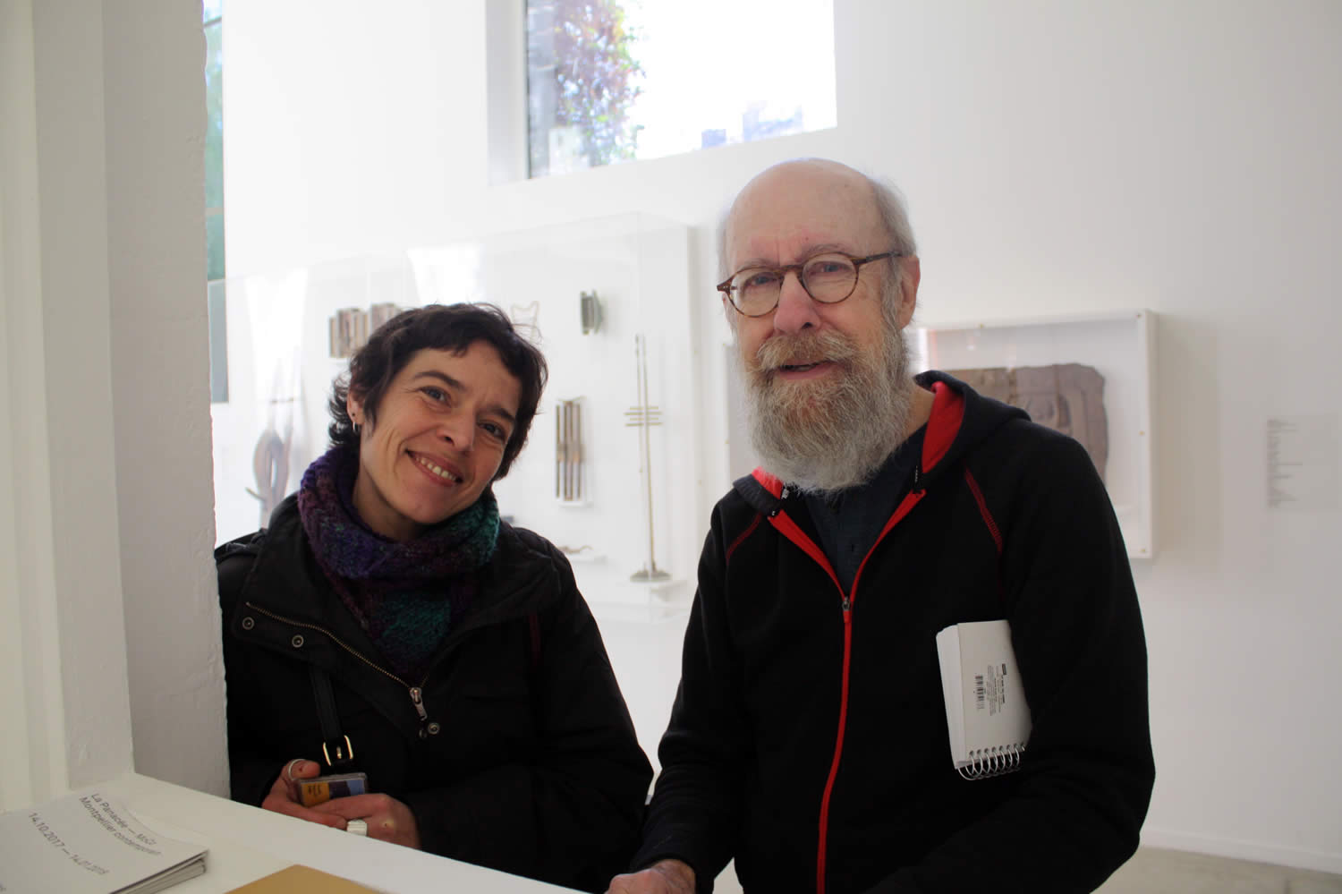 David Daly with Pauline Faure, director of the Plurivers exhibit at La Panacée
