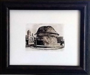 Civilization of Llhuros | Artifact #133 | Print of Phallic Monument Destroyed in 1807 by Napoleanic Troops
